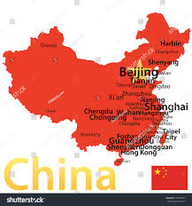 Suzhou China Map by China Map Largest Cities Carefully Scaled Stock Vector 226493233