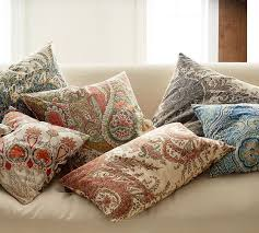 Pottery Barn Lumbar Pillow Covers Beale Paisley Reversible Pillow Cover Pottery Barn Toes In The