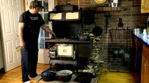 wood buring kitchen stove youtube