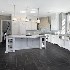 bathroom white cabinets dark floor kitchens with dark tile floors and white cabinets saomc co