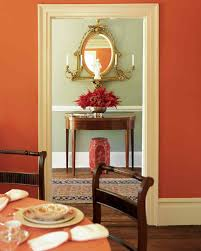 Orange Livingroom by Red Rooms Martha Stewart
