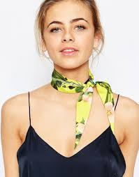 ted baker ted baker hanging secret trellis twilly scarf at asos