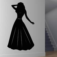 Fashionable Home Decor Compare Prices On Princess Silhouette Stickers Online Shopping