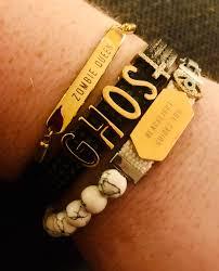 themed bracelets custom ghost themed bracelets ghostbc