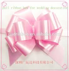 pull bow ribbon hongkong pp pom pom pull bow ribbon with gholden line edge