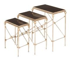 Marble Accent Table Gold Marble Top Accent Tables Set Of 3 Kirklands