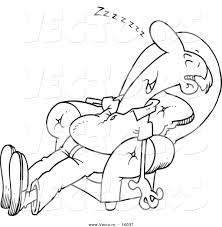 Sleeping In A Chair Vector Of A Cartoon Exhausted Man Sleeping In An Arm Chair