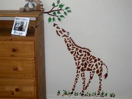 Giraffe Baby Decorations Nursery by Large Giraffe Wall Stencil Childrens Bedroom Decor Nursery Wall