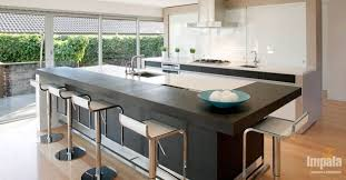 island kitchen bench designs the striking island unit enables practical seating and the lower