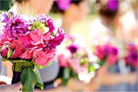wedding flower casual outdoor wedding summertime bright wedding flowers pink 0