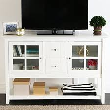 Living Room Tv Table We Furniture 52 Console Table Wood Tv Stand Console