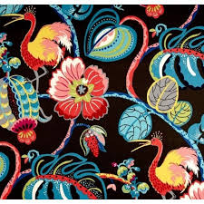 Waverly Home Decor Fabric Tropical Fete Basketweave Home Decor Fabric By Waverly In Black