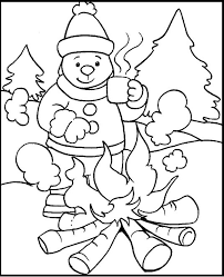 sledding friends winter coloring pages sleigh2 winter