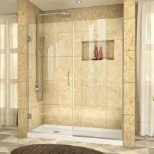 anzzi madam series 60 in by 76 in frameless sliding shower door