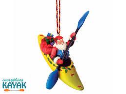 white water kayaking santa ornament everything kayak