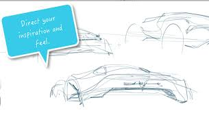 car design tip sketch with the