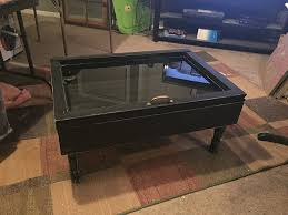 amazon com shadow box coffee table single pane shadow box table