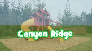 canyon ridge wooden swing set u0026 playhouse outdoor play fun