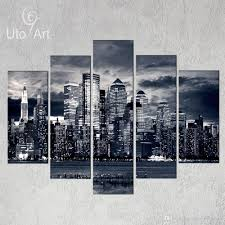 home decor new york unstretched modern home decor new york city painting black white