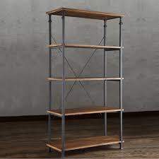 myra ii vintage industrial modern rustic 40 inch bookcase by