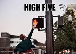 High Five Meme - meme high five viral viral videos