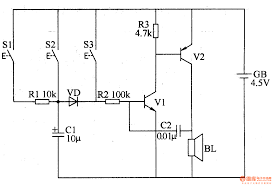 three tone electronic doorbell 1 electrical equipment circuit