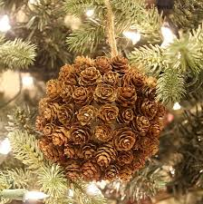 mini pine cone ornament and a giveaway pine cone