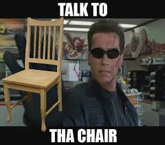 Clint Eastwood Chair Meme - talk to the chair clint eastwood s empty chair speech