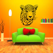 Decoration Cat Wall Decals Home by African Style Home Decoration Wall Murals Cheetah Head Patterned
