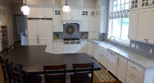 Kitchens With Different Colored Cabinets Contemporary River White Granite Kitchen Countertop Kitchens By