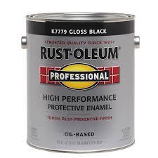 shop rust oleum professional black gloss enamel interior exterior