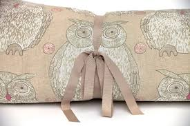 tawny owl dog bed roll in taupe the lounging hound