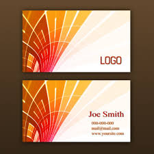 orange business card template psd file free