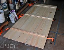how to build a garage loft epbot make your own sliding barn door for cheap