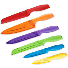 Kitchen Knives For Sale Cheap by Amazon Com Top Chef 6 Piece Professional Grade Colored Knife Set