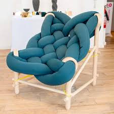Giant Armchair Chunky Knit Chair Is A Cozy Contemporary Seat By Veega Tankun