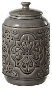 colier embossed medallion canister contemporary kitchen