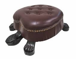 Foot Ottomans Walnut Finish Turtle Ottoman Foot Stool
