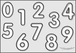 Coloriage  les chiffres