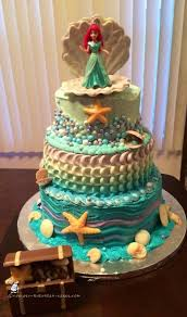 topsy turvy little mermaid cake a toy ariel was purchased from