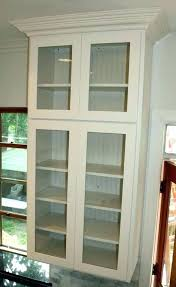 wood curio cabinet with glass doors wall cabinets with glass doors andikan me