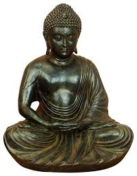 Home Decor Statues Small Meditating Buddha Peace Harmony Statue Rich Bronze Home