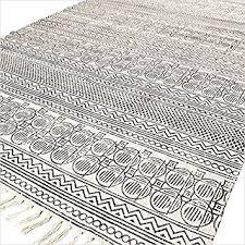 amazon com eyes of india 4 x 6 ft black white cotton block
