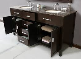 bathroom dark brown double sink bathroom vanities with oval sink