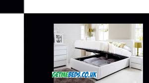 White Ottoman Bed by Henley White Leather Ottoman Bed Youtube