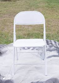 metal folding chair covers easy grainsack style folding chair makeover bless er house