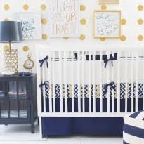 zig zag baby crib bedding set in navy rosenberryrooms com