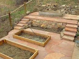 Dry Laid Flagstone Patio Dry Laid Colorado Red Flagstone Patio And Stairs Yelp