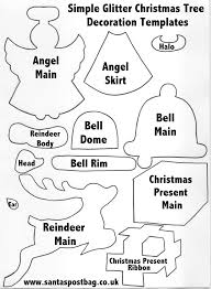 simple glitter christmas tree decoration templates christmas