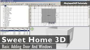 sweet home 3d adding door and windows youtube